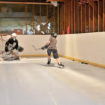 residential synthetic ice rink photos, home synthetic ice rink, home rink, backyard rink