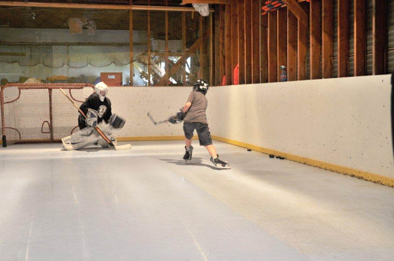 home synthetic ice rink for hockey in Canada