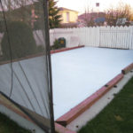 backyard ice rink, residential synthetic ice rink photos