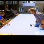 HGTV synthetic ice rink, backyard synthetic ice, backyard rink