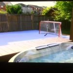 backyard synthetic ice rink, backyard rink