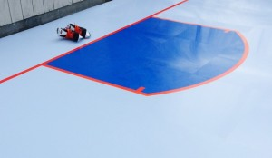 hockey lines and creases for synthetic ice rinks