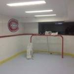 basement hockey rink, synthetic ice rink