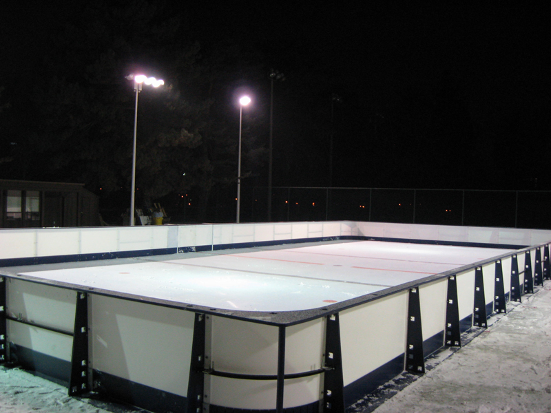 Commercial Synthetic Ice Facilities SmartRink Synthetic Ice - Backyard synthetic ice rink