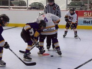 Players face off on SmartRink Synthetic Ice