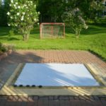 shooting pad, synthetic ice shooting pad, backyard ice rink