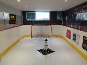 basement synthetic ice rink, synthetic ice, smartrink synthetic ice