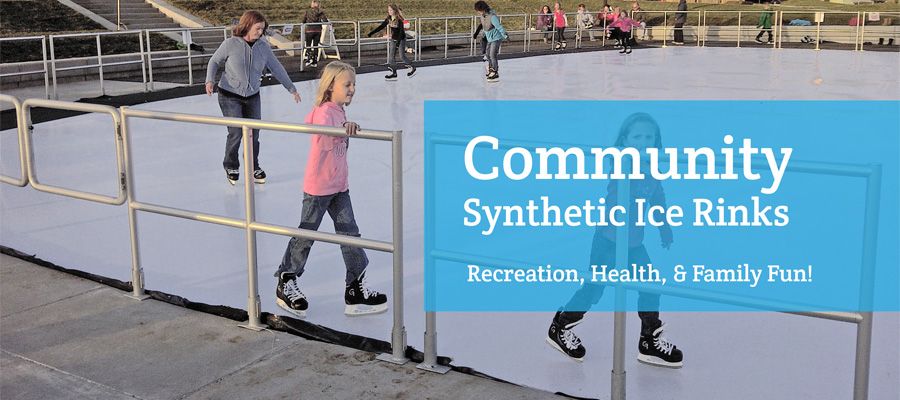 community synthetic ice rinks