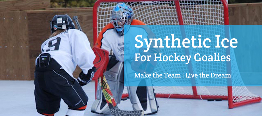 synthetic ice for hockey goalie training