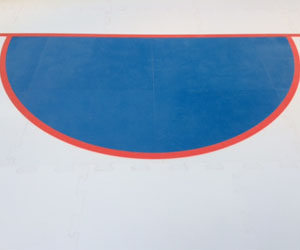 IIHL synthetic goal crease