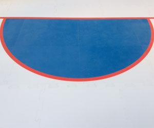 IIHL synthetic goal crease