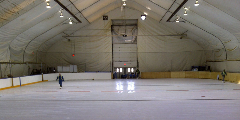 synthetic ice rink alberta