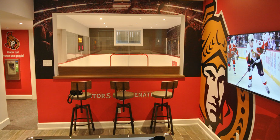 senators synthetic ice rink
