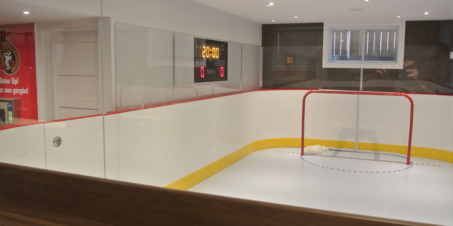 synthetic skating arena net