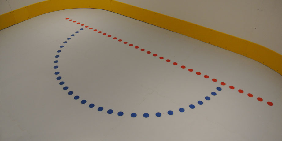 synthetic ice goal crease