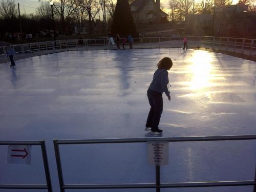 Skating on Community Rink