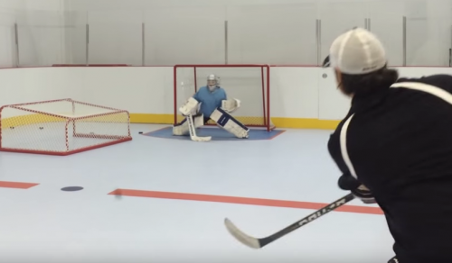 Saving the Puck on Synthetic Ice Rink