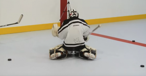 Synthetic Ice Rink Goalie Practise
