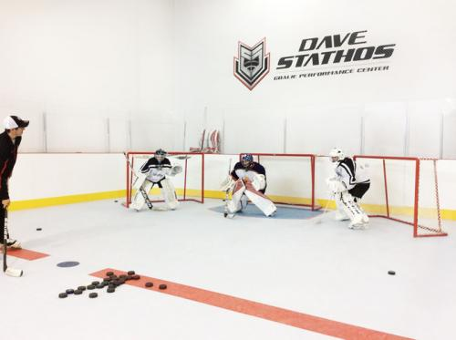 Goalie Training Synthetic Ice