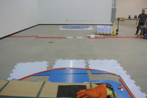 Installing Synthetic Ice