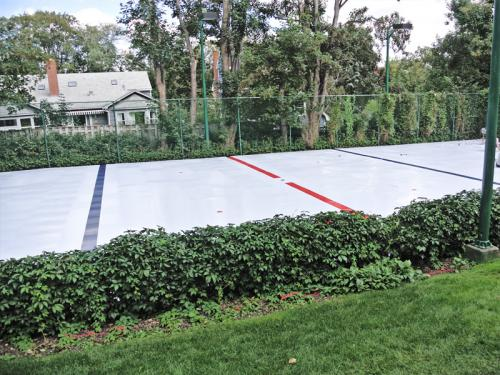 backyard synthetic hockey ice rink