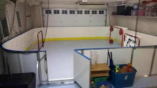 indoor garage synthetic ice rink
