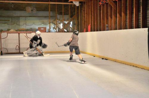 Playing Hockey on Synthetic Ice
