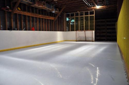 Synthetic Ice Rink in Garage