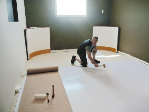 Installing Synthetic ice Panels
