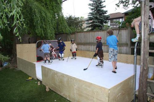 outdoor backyard synthetic ice rink ontario