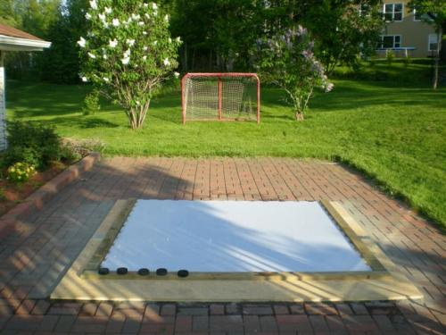 backyard synthetic ice shooting pad