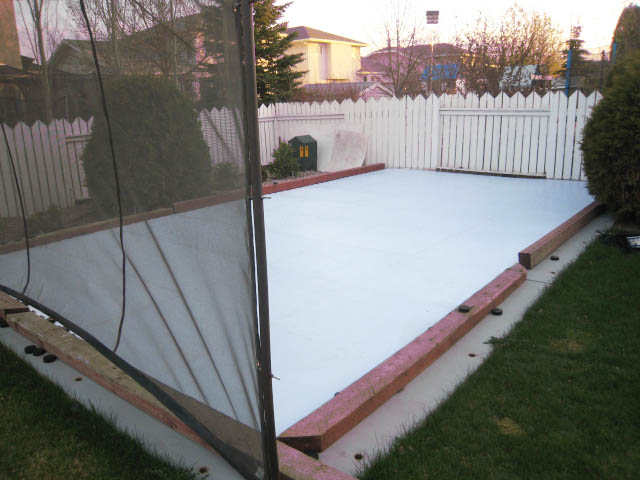 Backyard Synthetic Ice Rink For Hockey ...